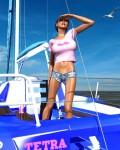 Effie Jo aboard The Tetra