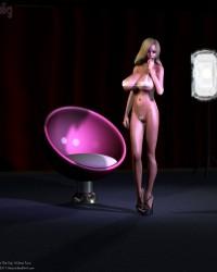 Wilona Tries On The Cellophane Bikini