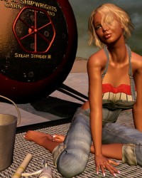 Kyndra Lee Lounges Aboard The Steam Strider
