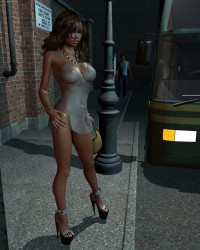 Princess At The Bus Stop - 2