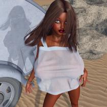 Nina on the Beach - Sheer Sundress