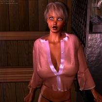 Randi In The Sauna 5
